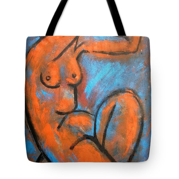 Red Caryatid - Nudes Gallery Tote Bag by Carmen Tyrrell