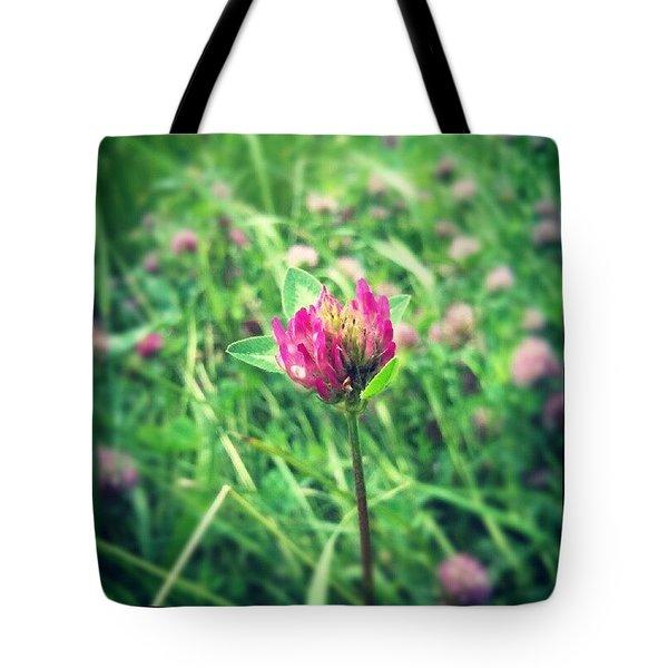 Red Clover Flower Tote Bag
