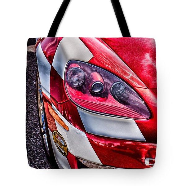 Red Corvette Tote Bag by Lauri Novak