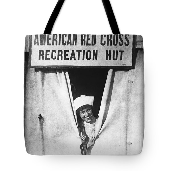 Red Cross Nurse, 1918 Tote Bag by Photo Researchers