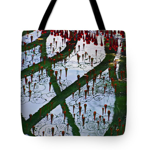 Red Crystal Refletcion Tote Bag by Garry Gay