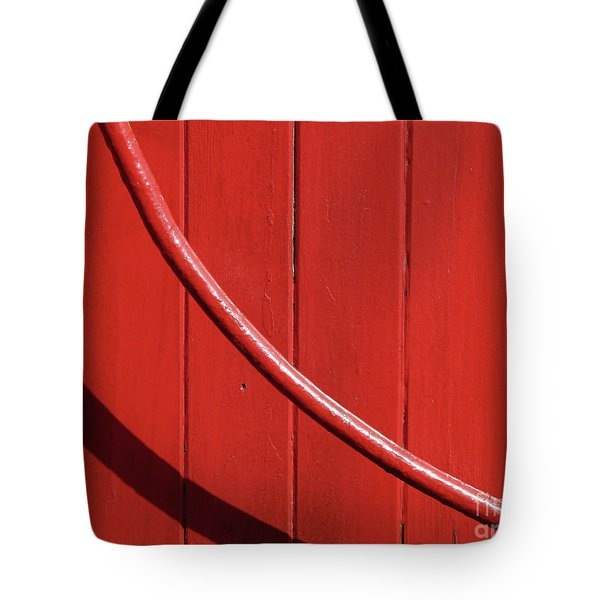 Tote Bag featuring the photograph Red Curve by Newel Hunter