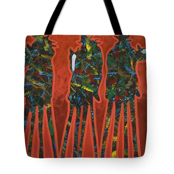 Red Dust Tote Bag by Lance Headlee