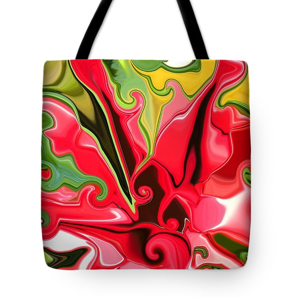 Red Fantasy Lily Tote Bag