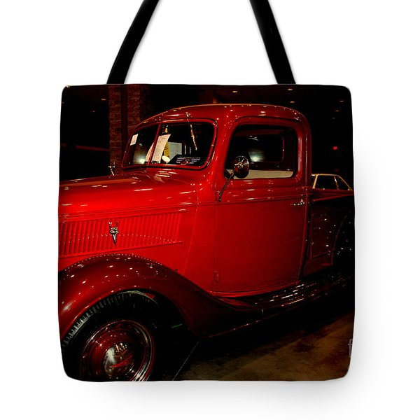 Red Ford Truck Tote Bag by Susanne Van Hulst