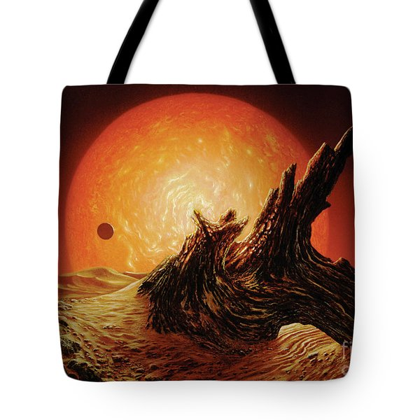 Red Giant Sun Tote Bag by Don Dixon