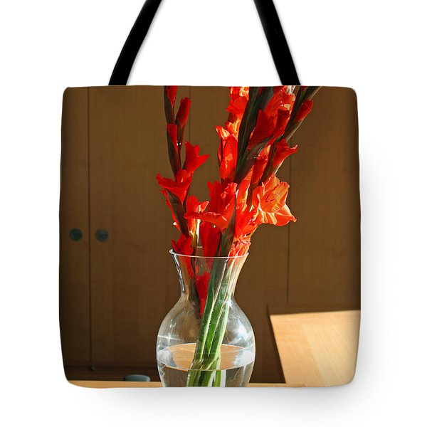 Red Glads Tote Bag by Suzanne Gaff