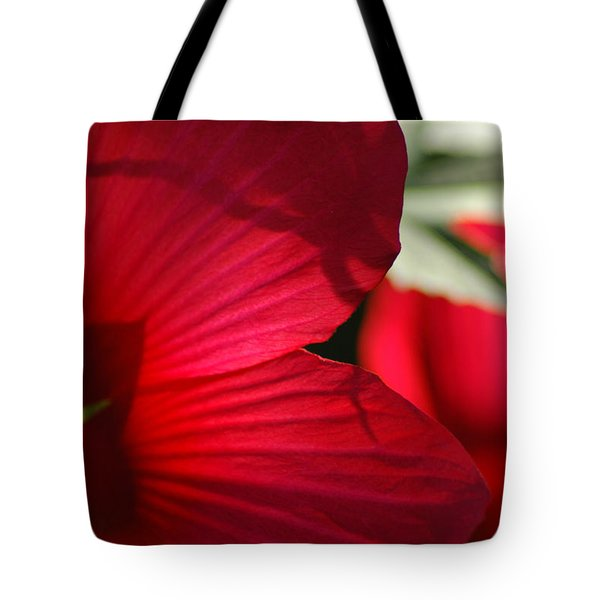 Red Hibiscus Tote Bag