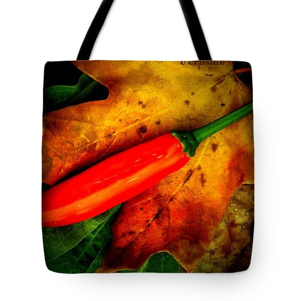 Red Hot Chili Pepper Tote Bag by Chris Berry