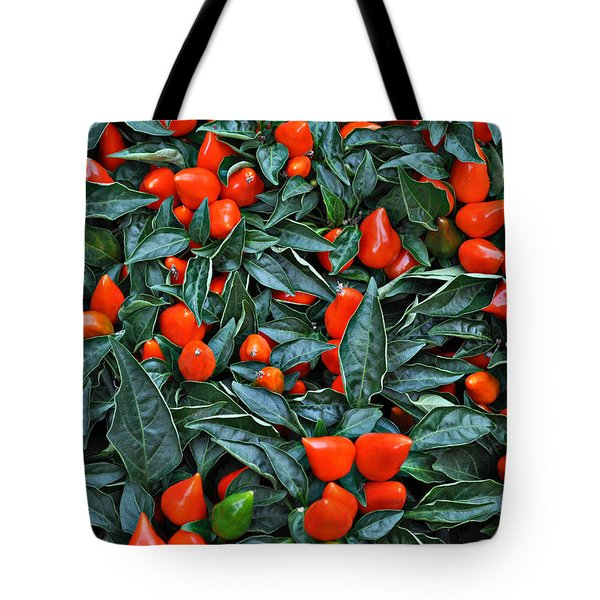 Red Hots Tote Bag by Mary Machare
