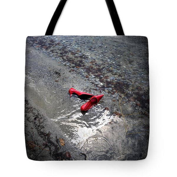 Red Is Swimming Tote Bag by Joana Kruse