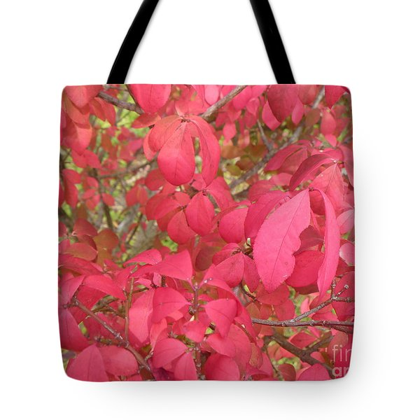 Red Leaves IIi Tote Bag by Alys Caviness-Gober