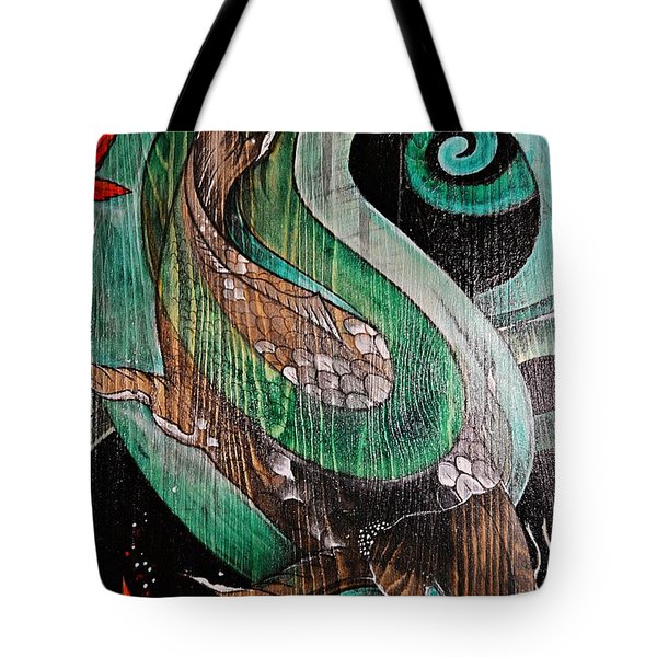 Red Leaves Leaving Tote Bag