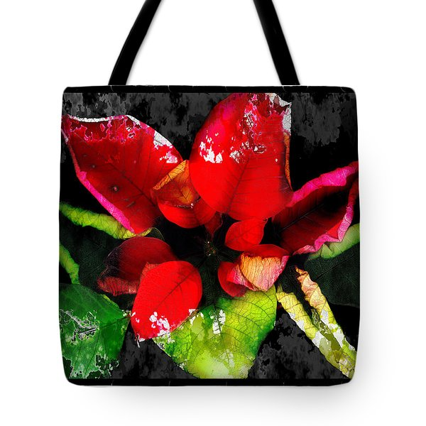 Red Leaves Tote Bag by Mauro Celotti