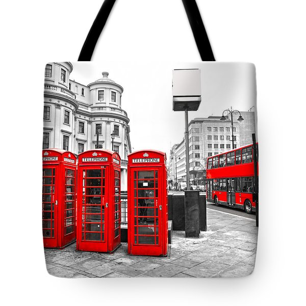 Tote Bag featuring the photograph Red London by Luciano Mortula