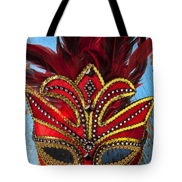 Red Mask Tote Bag