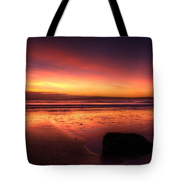 Red Morning Tote Bag by Svetlana Sewell