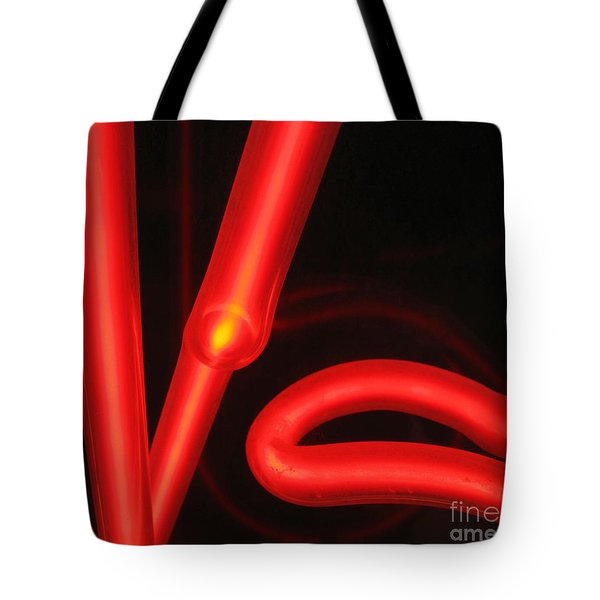 Red Neon Tote Bag