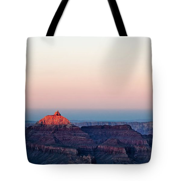 Red Peak Tote Bag by Dave Bowman