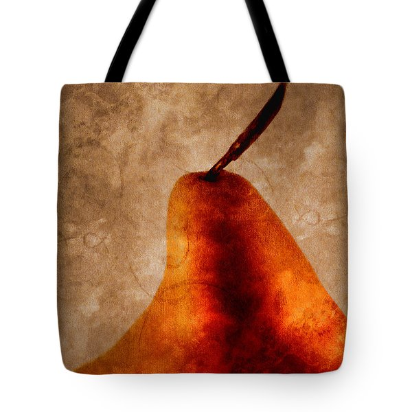 Red Pear I Tote Bag by Carol Leigh