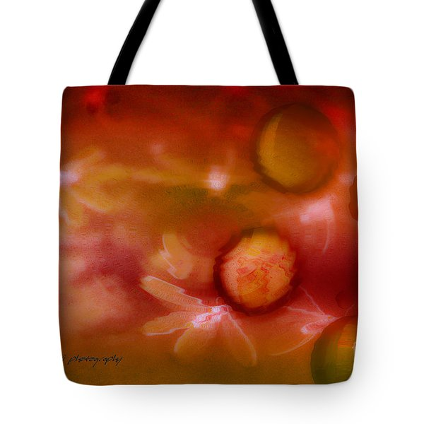 Red Pearl Dragon Fly Tote Bag