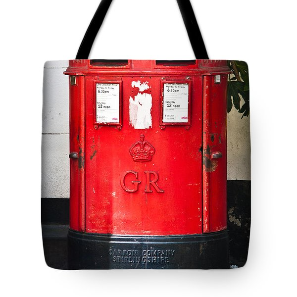 Red Post Box Tote Bag by Dawn OConnor