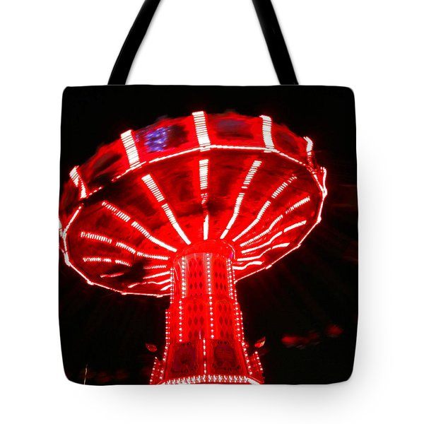 Red Ride Is Wild Tote Bag by Kym Backland