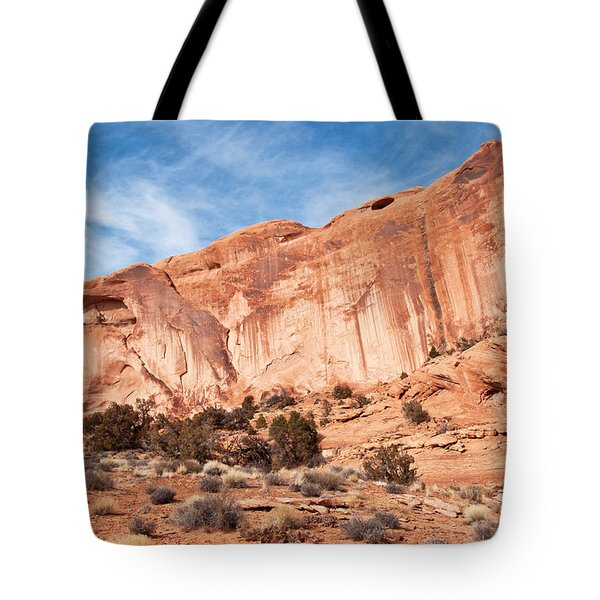 Red Rock And Blue Skies 2 Tote Bag by Bob and Nancy Kendrick