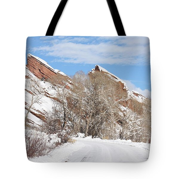 Tote Bag featuring the photograph Red Rocks by Angelique Olin
