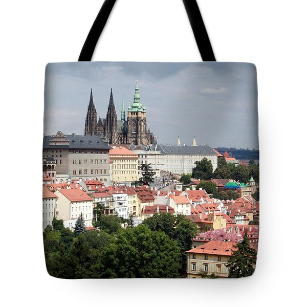 Red Rooftops Of Prague Tote Bag