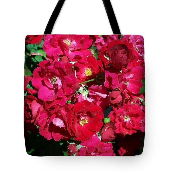 Red Rose Bush Tote Bag