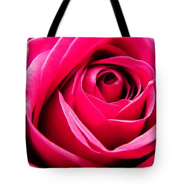 Red Rose Macro Tote Bag by Sandi OReilly