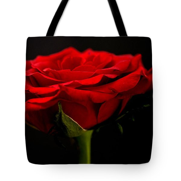 Tote Bag featuring the photograph Red Rose by Steve Purnell