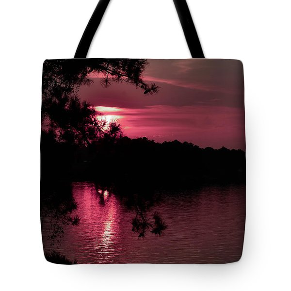 Red Sky At Night Tote Bag by Shannon Harrington