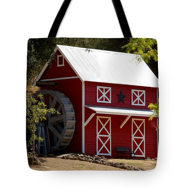 Red Star Barn Tote Bag by Holly Blunkall