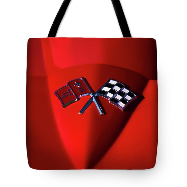 Red Stingray Badge Tote Bag