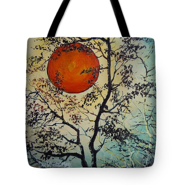Red Sun A Red Moon Tote Bag by Dan Whittemore