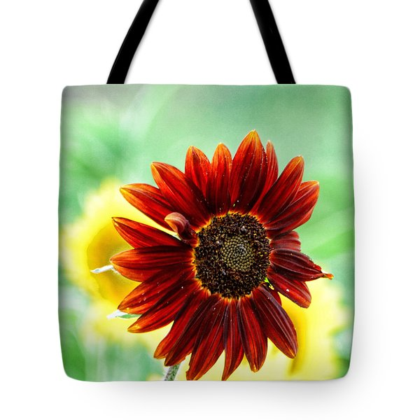 Red Sunflower 4 Tote Bag