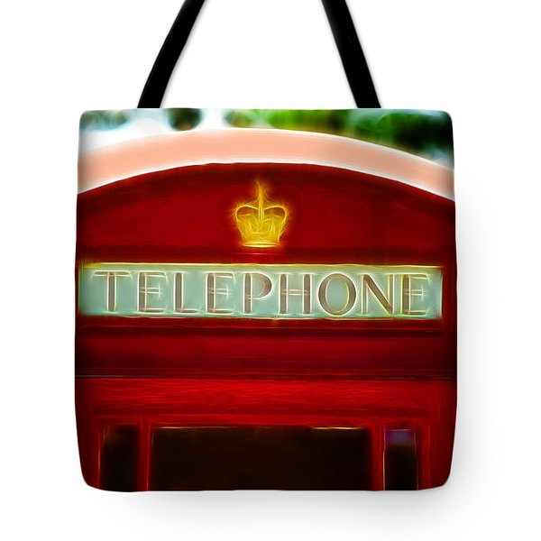 Red Telephone Box Tote Bag by Chris Thaxter