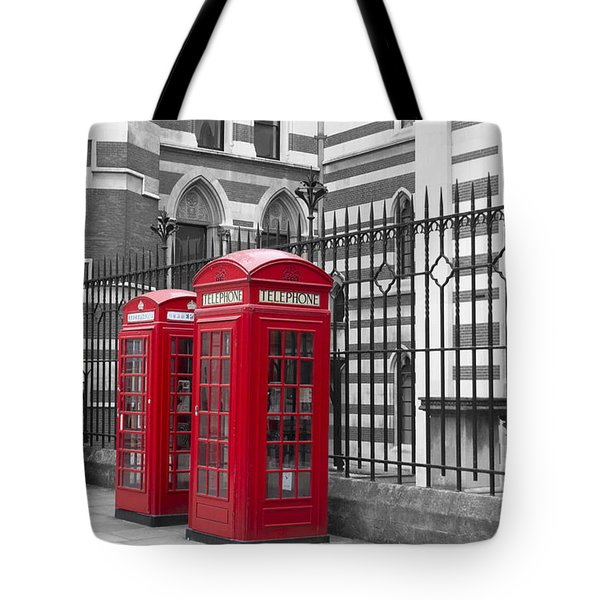 Red Telephone Boxes Tote Bag by David French