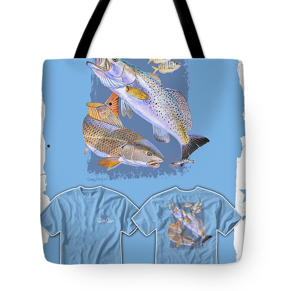 Red Trout Tote Bag