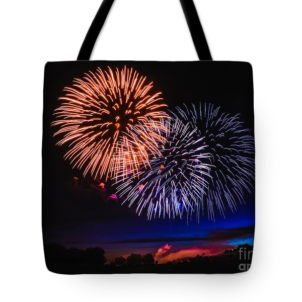 Red White And Blue Tote Bag by Robert Bales