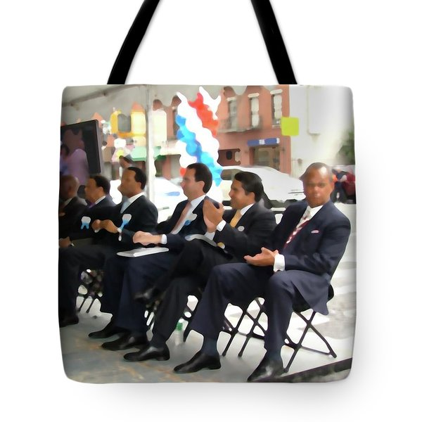 Red White And Blue Tells The Story       Tote Bag by Terry Wallace