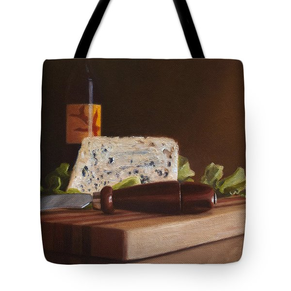Red Wine And Bleu Cheese Tote Bag
