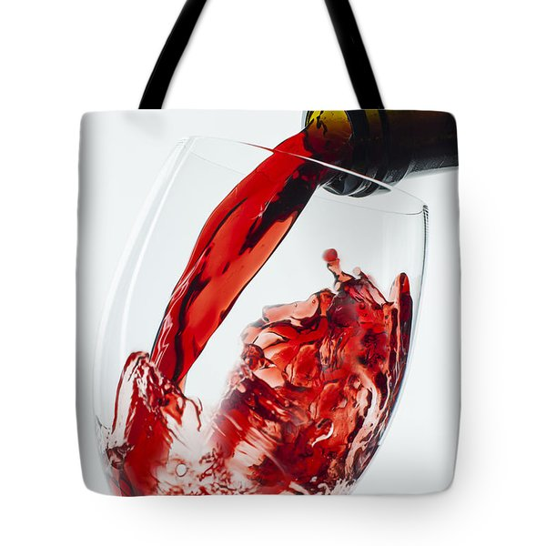 Red Wine Pour Tote Bag by Garry Gay
