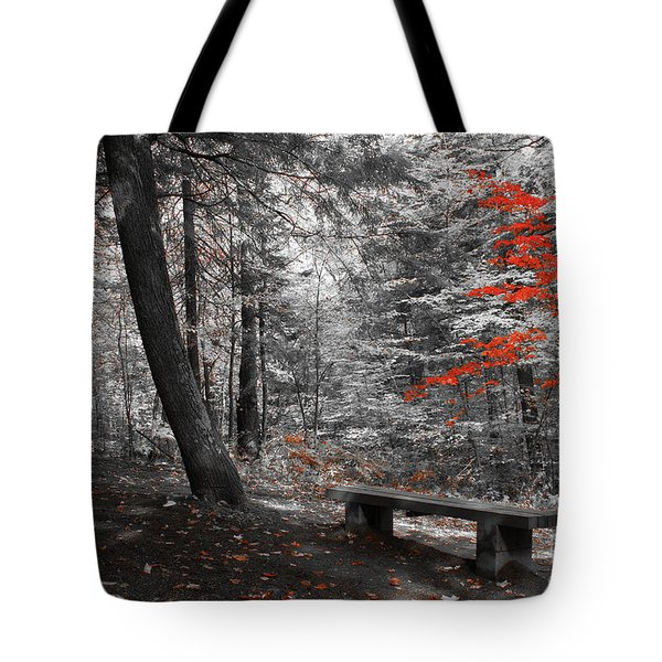 Reds In The Woods Tote Bag by Aimelle