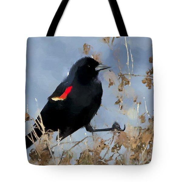 Redwing Blackbird Tote Bag