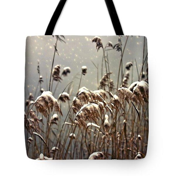 Reed In Snow Tote Bag by Joana Kruse