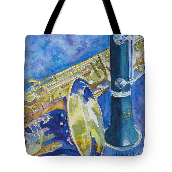 Reeds Between Sets Tote Bag by Jenny Armitage