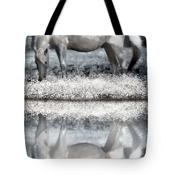 Tote Bag featuring the digital art Reflecting Dreams by Mary Almond